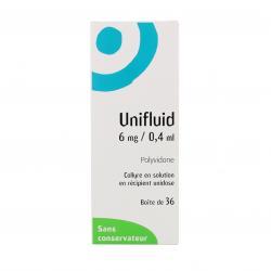 Unifluid 6 mg/0,4 ml Boîte de 36 récipients unidoses