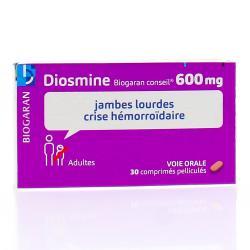 BIOGARAN Diosmine 600mg Boîte de 30 comprimés