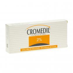 Cromédil 2 pour cent Boîte de 30 récipients unidoses