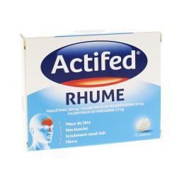 Actifed rhume Boîte de 15 comprimés