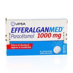 Efferalgan 1 g Tube de 8 comprimés effervescents
