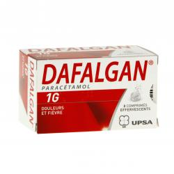 Dafalgan 1 g Tube de 8 comprimés