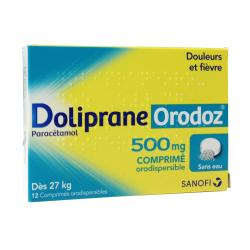 Doliprane Orodoz 500mg Boîte de 12 comprimés