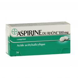 Aspirine du Rhône 500 mg Boîte de 50 comprimés