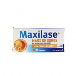 Maxilase maux de gorge alpha-amylase 3000 u. ceip Boîte de 30 comprimés