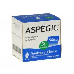 Aspégic 500 mg Boîte de 30 sachets-doses