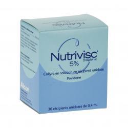 Nutrivisc 5 pour cent (20 mg/0,4 ml) Boîte de 30 récipients unidoses