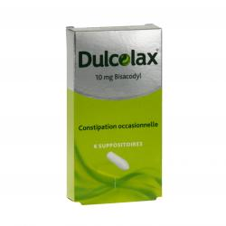 Dulcolax 10 mg Boîte de 6 suppositoires
