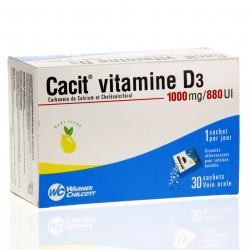 Cacit vitamine d3 1000 mg/880 ui Boîte de 30 sachets