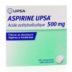 Aspirine upsa 500 mg Boîte de 20 comprimés