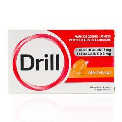 DRILL Miel rosat Boîte de 24 pastilles