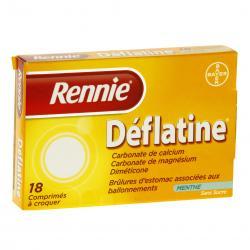 Rennie déflatine sans sucre Boîte de 18 comprimés
