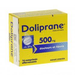 Doliprane 500 mg Boîte de 16 comprimés effervescents