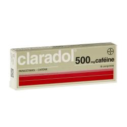 Claradol 500 mg caféine Boîte de 16 comprimés