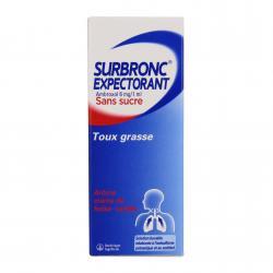 Surbronc expectorant ambroxol sans sucre Flacon de 100 ml