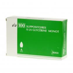 Suppositoiresà la glycérine monot adultes Sac de 100 suppositoires