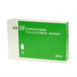 Suppositoiresà la glycérine monot adultes Sac de 50 suppositoires