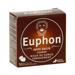 Euphon sans sucre Boîte de 70 pastilles
