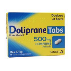 Doliprane Tabs 500 mg Boîte de 16 comprimés