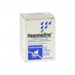 Hexomédine transcutanée 1,5 pour mille Flacon de 45 ml