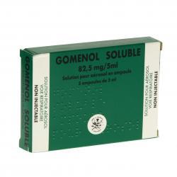 Gomenol Soluble 82,5 mg/5 ml Boîte de 5 ampoules