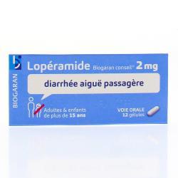 BIOGARAN Lopéramide 2mg Boîte de 12 gélules
