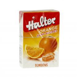 LE COMPTOIR DU PHARMACIEN Bonbon halter orange sans sucre Boite de 40g