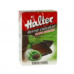 LE COMPTOIR DU PHARMACIEN Bonbon halter menthe chocolat sans sucre Boite de 40 g