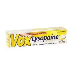 Voxlysopaïne citron pastille à sucer Boîte de 18 pastilles