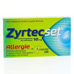 Zyrtecset 10 mg Boîte de 7 comprimés