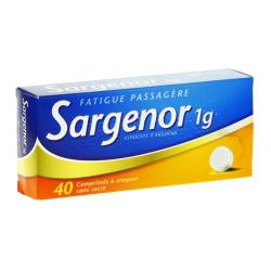 Sargenor sans sucre 1g Boîte de 40 comprimés