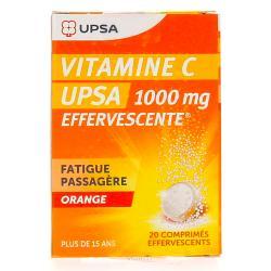 Vitamine C upsa effervescente 1000mg 2 Tubes de 10 comprimés