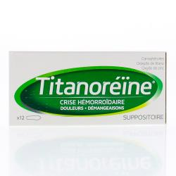 Titanoréine Boîte de 12 suppositoires