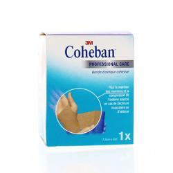 Coheban Bande Cohésive 3 m x 7 cm - Couleur chair