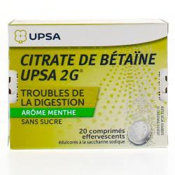 Citrate de bétaïne 2g menthe sans sucre Boîte de 20 comprimés