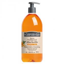 Savon traditionnel de Marseille Mandarine sauge 1L