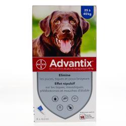 Advantix grand chien anti-puces et tiques - 6 pipettes