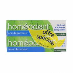 HOMEODENT BLANCHEUR PROMO PACK X2
