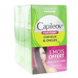 NUTREOV Capileov fortifiant 3 boîtes de 30 gélules