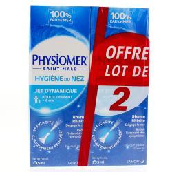 Hygiène du nez jet dynamique Lot de 2 flacons 135ml