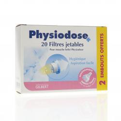 Physiodose filtres mouche bébé boite de 20 + 2 embouts