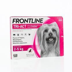 Tri-act chiens de 2 a 5kg pipettes 0.5ml x3