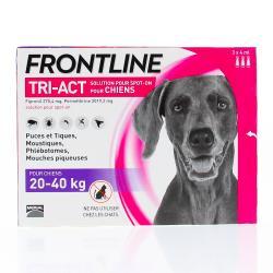Tri-act chiens de 20 a 40kg pipettes 4ml x3