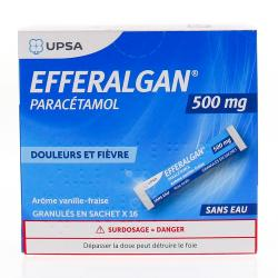 Efferalgan 500mg granulés vanille-fraise 16 sachets