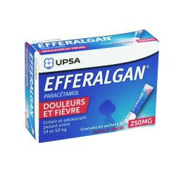 Efferalgan 250mg granulés vanille-fraise 10 sachets