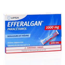 Efferalgan 1g granulés cappucino 8 sachets