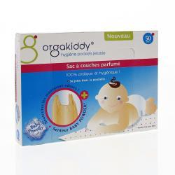 Sac à couches parfumé senteur Baby powder Paquet de 50 sacs