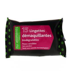 Lingettes Pocket démaquillantes bio Paquet de 15 lingettes