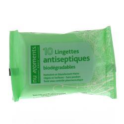 Lingettes antiseptiques Paquet de 10 lingettes