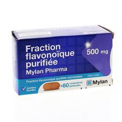 Fraction flavonoïque purifiée 60 comprimés